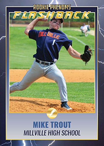 MIKE TROUT PITCHER FLASBACK MILLVILLE NJ HIGH SCHOOL ROOKIE PHENOM 1 OF 2500