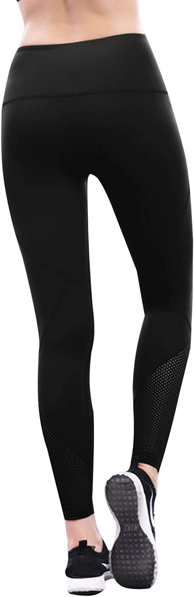 SUNNYME Womens Printed Yoga Pants High Waist Workout Leggings Tummy Control 4 Way Stretch Tights