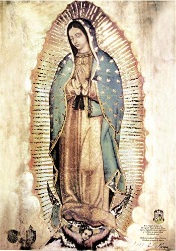Our Lady of Guadalupe, Body Portrait,Original - Religious Wall Art Print Poster (12x16)