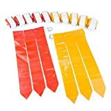 WYZworks Flag Football Set - 12 Belts, 18 Red Flags & 18 Yellow Flags