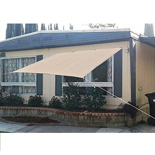 Alion Home Sun Shade Privacy Panel with Grommets on 2 Sides for Patio, Awning, Window Cover, Canopy, Pergola or Gazebo (Banha Beige) (8'x 4')