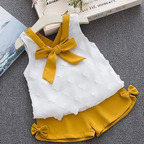 Lurryly (Yellow, Recommended Age:1-2 Years,Label Size:80) Baby Doll Dress, Girl White Dress, Girl Dresses Teens, Lavender Flower Girl Dress, Girl Black Dress ()