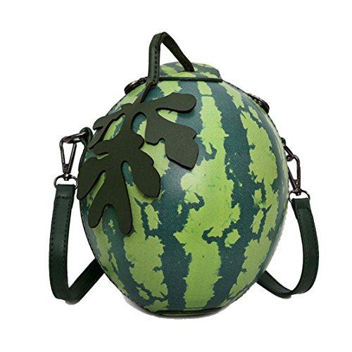 MILATA Watermelon Shaped Women's Crossbody Bag Shoulder Bag PU Leather Clutch Bag Purse (Ladies Shell Shaped Handbags)