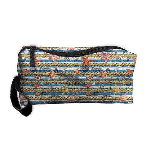 FRTSFLEE Underwater World Coral Pattern Pencil Case Travel Toiletry Bag Receive Bag Pencil Bag Durable Pouch Zipper Big Capacity Trave Makeup Organizer Bag