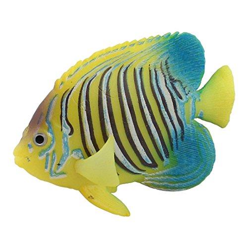 Image of uxcell Silicone Aquarium Fishbowl Emulational Underwater Angelfish Ornament