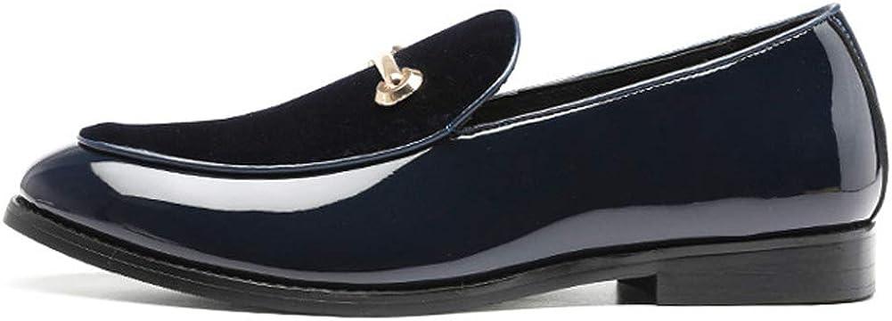 Pelle Scamosciata Da Uomo Mocassini New 2019,Loafers Scarpe Da Guida Morbida Traspirante Scarpe Da Barca Discoteca Per Feste Di Matrimonio Blu Rosso Black 37-48 Blue