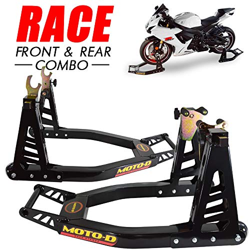 - MOTO-D Swingarm Motorcycle Stands (Front & Rear)