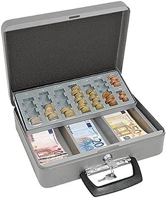Wedo 149658012 - Caja de caudales con portamonedas, 300 x 240 x 90 ...