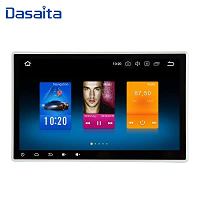Dasaita 10 inch Adjustable Screen 2din Android 9.0 Car Stereo for Universal Radio GPS 4G Ram 32G ROM BT5.0 Double din Navigation Multimedia: GPS & Navigation