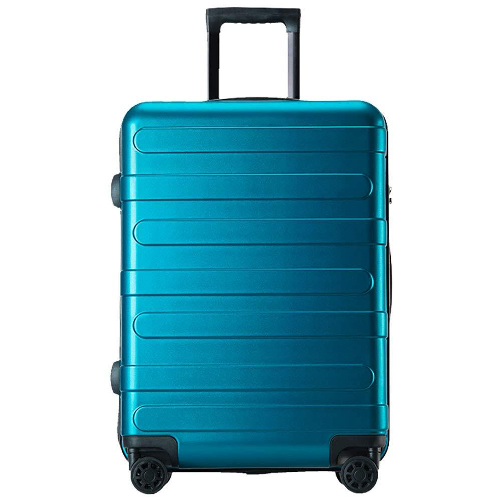 荷物トロリーケース男性大容量スーツケース女性ユニバーサルホイール20パスワード英国風ボックストロリーケースブルー56 * 23 * 36CM   B07KR9HH32