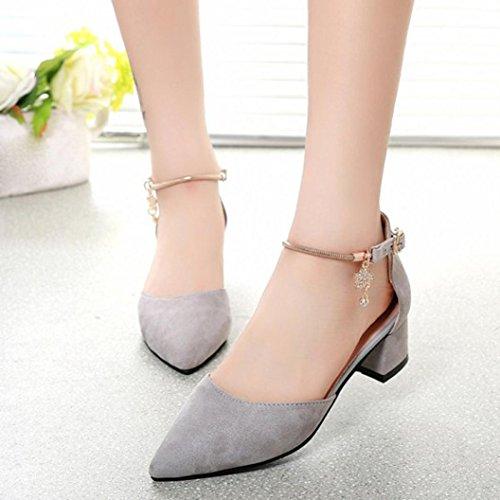Fullkang High Heels Shoes Wedding Shoes Summer Sandals Shoes Platform Wedge Shoes Gray XclPcsE