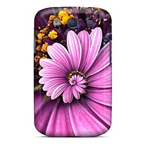 Awesome Purple Droste Flip Case With Fashion Design For Galaxy S3