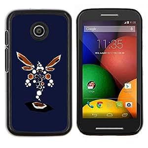 """Be-Star Único Patrón Plástico Duro Fundas Cover Cubre Hard Case Cover Para Motorola Moto E / XT1021 / XT1022 ( Resumen de la libélula"""" )"""