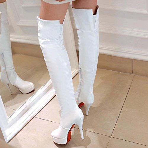 Classic Classic White Women's AIYOUMEI AIYOUMEI Women's Boot Boot AIYOUMEI Classic Women's White Boot v1wxa1