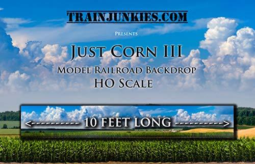 - Train Junkies Just Corn III- Model Railroad Backdrop in HO Scale