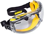 DEWALT DPG82-11C Concealer Clear Anti-Fog Dual Mold Safety Goggle, Clear Lens, 1 Pair