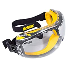 The DeWalt Concealer safety Goggle is a dual mold Goggle that provides protection from dust and debris.The Concealer is a dual mold goggle that provides extra fog control and ventilation with an impact resistant lens. Its dual-injected rubber provide...