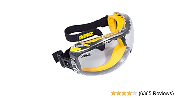 3319f6fd71 DEWALT DPG82-11 DPG82-11CTR Concealer Clear Anti-Fog Dual Mold Safety  Goggle - - Amazon.com