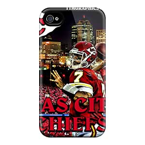 Aog104xgRq Kansas City Chiefs Fashion Tpu 4/4s Case Cover For Iphone