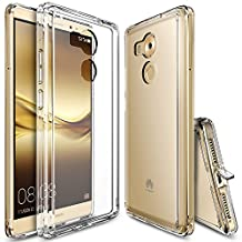 Huawei Mate 8 Case, Ringke [FUSION] Crystal Clear PC Back TPU Bumper [Drop Protection/Shock Absorption Technology][Attached Dust Cap] For Huawei Mate 8 - Crystal View