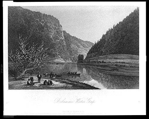 1872 Photo Delaware Water Gap / G. Perkins ; R. Hinshelwood. Location: Delaware Water Gap, - Perkins Locations
