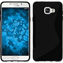 Silicone Case for Samsung Galaxy A3 (2016) A310 - S-Style black - Cover PhoneNatic + protective foils