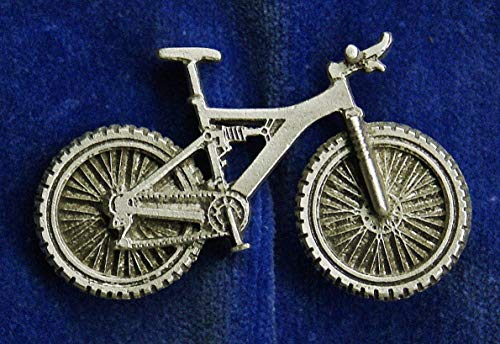Popular Enamel Lapel pins - Empire Pewter Full Suspension Mountain Bike Pin - Fashion Pins and Brooches