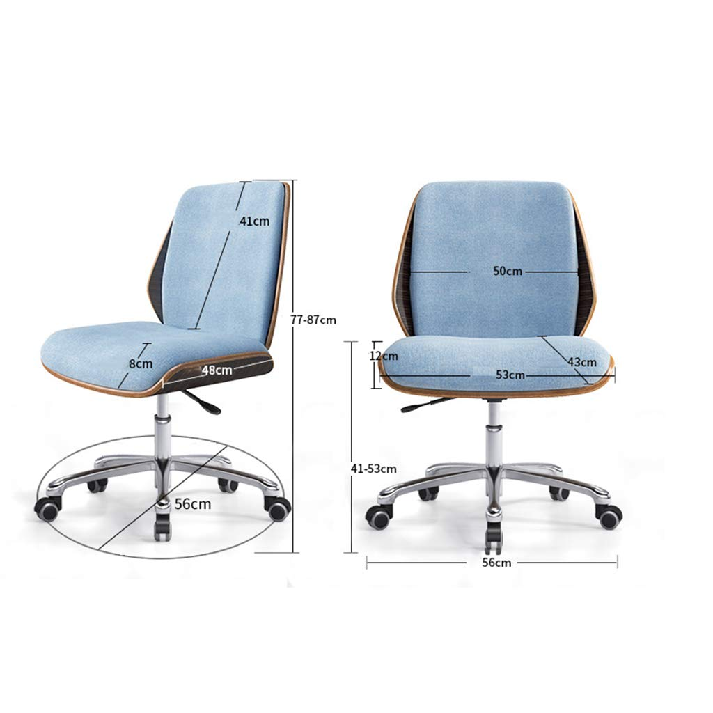 Amazon.com: Chairs Sofas Solid Wood Computer Chair Comfortable Chair for Home Nordic Office Chair Company Staff Chair Study Room Without Armchair Swivel ...