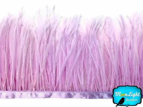 Ostrich Feathers , Lavender Ostrich Fringe Feather - 6 Inches