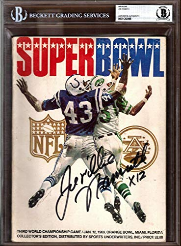 JOE NAMATH Signed Autographed 1969 Super Bowl 3 III Program Beckett BAS Slabbed - Beckett Authentication