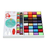 BCHZ 100pcs Multicolored Sewing Kit Measure Scissor Thimble Thread Needle ...