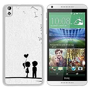 Cute Sweet Love Little Couple (2) Durable High Quality HTC Desire 816-1 Phone Case