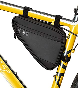 Top Tube Tool Storage Bag Water Resistant Reflective for Commuter Cruiser Electric Road Mountain Bikes ZRVATO Bicycle Bike Frame Bag Triangle