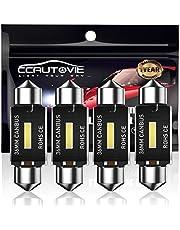 CCAUTOVIE 36mm Festoon LEIDENE Auto Lamp 6pcs, LEIDENE Koepel Lezen 36MM