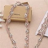 Crystal Rhinestone Applique Trimming Fashion Pretty Sewn Hot Fix for Women Bridal Belt Wedding Dresses Garters Headpieces