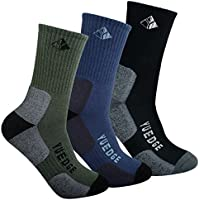 YUEDGE Men's Wicking Cushion Performance Athletic Outdoor Sports Crew Socks