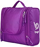 Toiletry Bag For Men & Women - Hanging Toiletries Kit For Makeup, Cosmetic, Shaving, Travel Accessories, Personal Items - Use In Hotel, Home, Bathroom, Airplane - 100% SATISFACTION GUARANTEE (Purple)