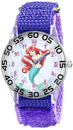 Disney Kids' W001669 Ariel Analog Display Analog Quartz Purple Watch