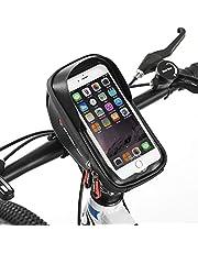 Hikenture® Upgrade Fahrrad Lenkertasche mit Touch Entsperrung, Wasserdichte Fahrradtasche mit Sensitivem TPU-Touchscreen, Rahmentasche Handyhalterung Fahrrad, Geeignet für Smartphones bis 6 Zoll