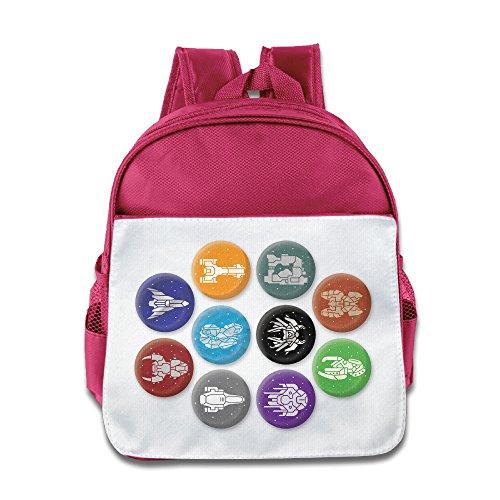 XJBD Custom Superb FTL Faster Than Light Teenager School Bagpack Bag For 1-6 Years Old Pink