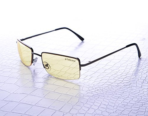 NoScope Gemini Yellow Lens Video Game Gaming TV & Computer Glasses | Anti Blue Rays & Glare Free | Eye Protection | Reduce Eye Strain and Fatigue | PS4 & ()