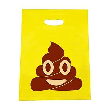 Amazon.com: 50 bolsas de plástico con diseño de emoticonos ...