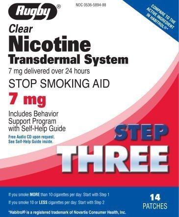 Rugby Clear Nicotine Transdermal System 7 mg