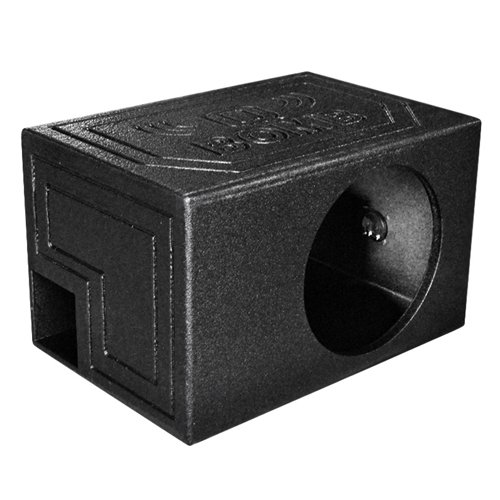 Q Power QBOMB12VL SINGLE Single 12-Inch Side Ported Speaker Box with Durable Bed Liner Spray by Q Power