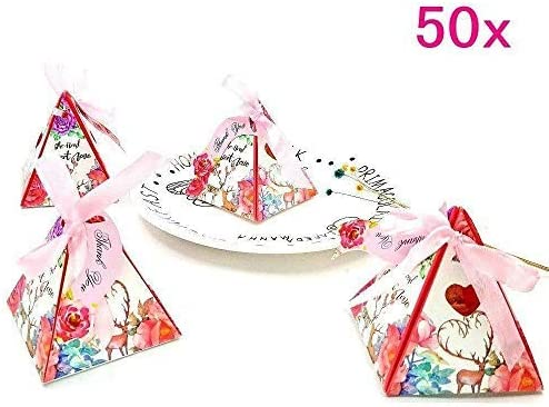 50x Christmas Flower Greeting Card Thank You Card Paper Party Favor Supplies US