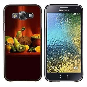 LECELL--Funda protectora / Cubierta / Piel For Samsung Galaxy E5 E500 -- Naturaleza Hermosa Forrest Verde 90 --