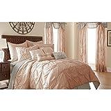 Amrapur Overseas | Ella 24-Piece Pintuck Comforter Set (Blush, King)