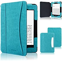 Kindle Paperwhite Case 2018, ACdream Folio Smart Cover Leather Case with Auto Sleep Wake Feature for All New and Previous Kindle Paperwhite Models, Sky Blue