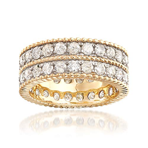 Ross-Simons 3.00 ct. t.w. Diamond Double-Row Eternity Band in 14kt Yellow Gold