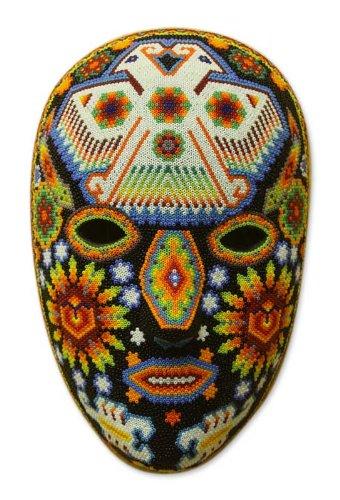 Huichol Mask (NOVICA Decorative Huichol Papier Mache Mask, Multicolor, 'Eagle Protector')